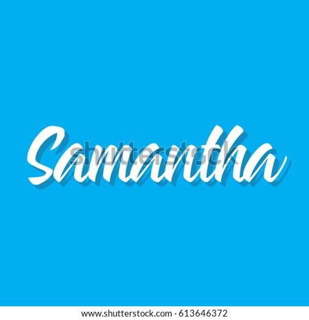 samantha  text design vector