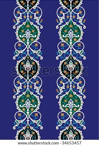 Samarkand Seamless Floral Border