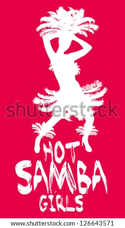 samba girls vector art