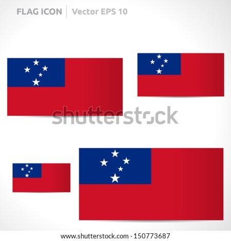 Samoa flag template | vector symbol design | color red blue and white | icon set #150773687
