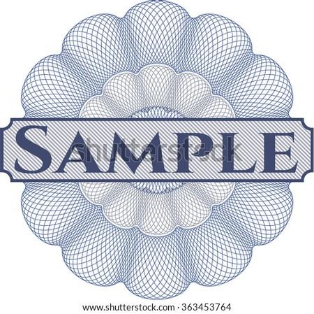 Sample abstract rosette