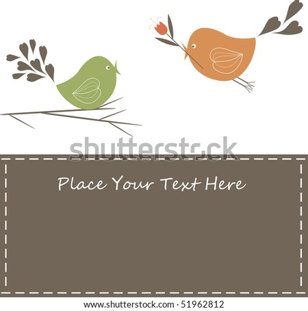 Sample background with birds. vector illustration