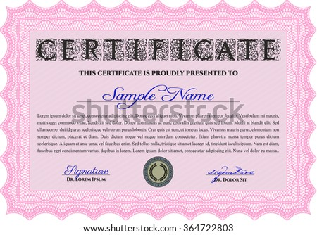 Sample Diploma. Retro design. Customizable, Easy to edit and change colors.With linear background.