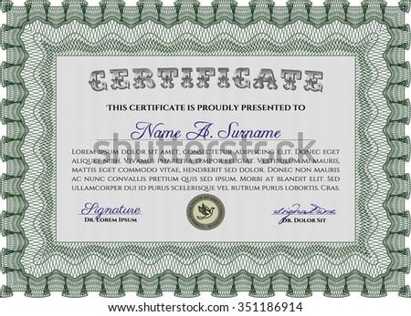 Sample Diploma. Superior design. Vector certificate template.Printer friendly.
