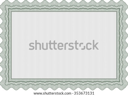 Sample Diploma. Vector illustration.Modern design. With guilloche pattern.