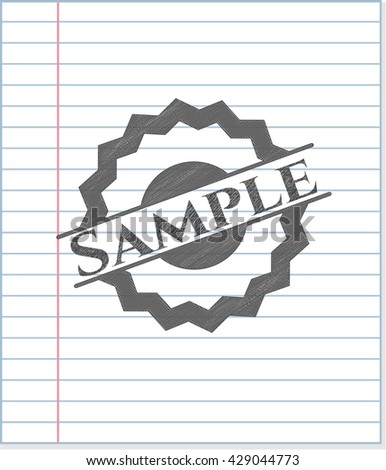 Sample draw with pencil effect