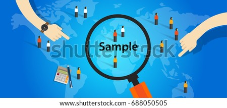 sample from population statistics research survey methodology selection concept