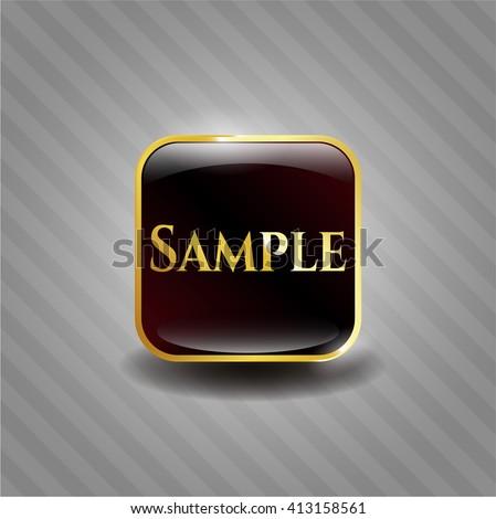 Sample golden emblem