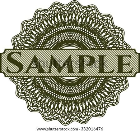 Sample linear rosette