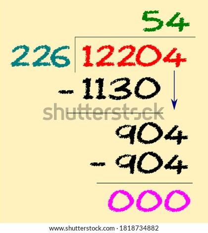 sample long division using 3-digit divisor Foto stock ©
