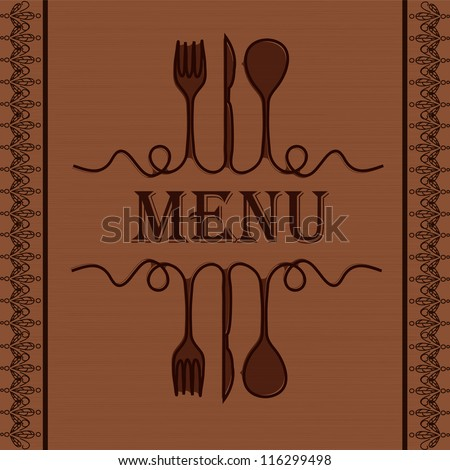 Sample menu for the restaurant