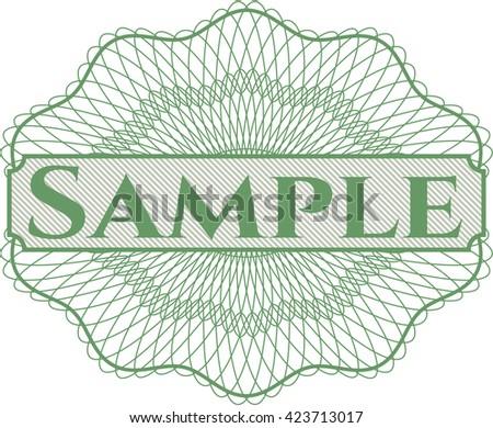 Sample money style rosette