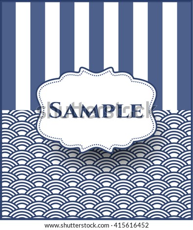 Sample poster or card