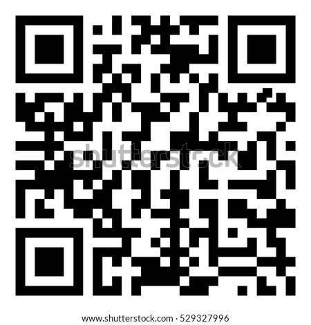 Sample qr code icon - Vector