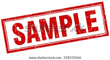 sample red square grunge stamp on white. sample stamp. sample. sample sign