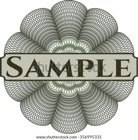 Sample rosette