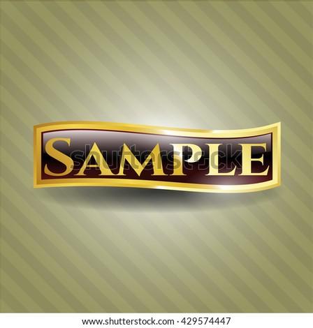 Sample shiny badge