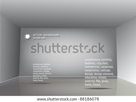 Sample text in the empty room