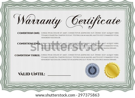 Quality warranty vector labels download free vector art stock sample warranty certificate with complex background perfect style complex frame yelopaper Images