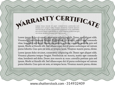 Sample Warranty. Perfect style. With sample text. With sample text.