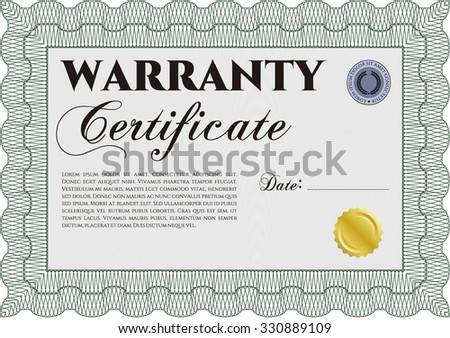 Sample Warranty. With sample text. Very Detailed. With sample text.