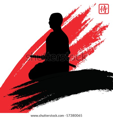 samurai - stock vector