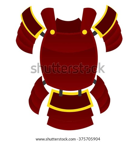 samurai armour red and yellow