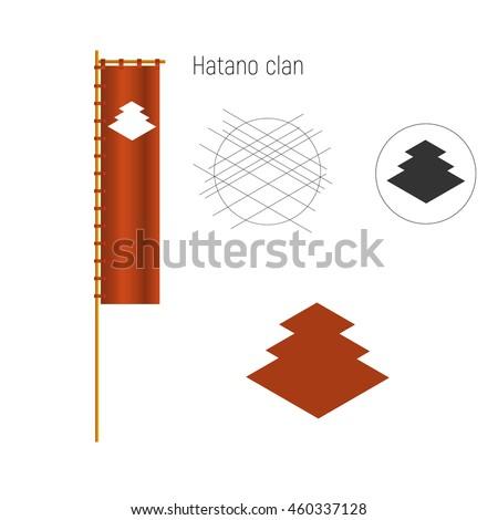 samurai clan crests logo and
