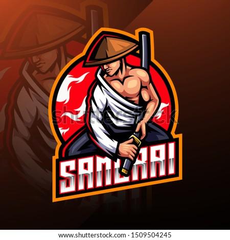 samurai esport mascot logo