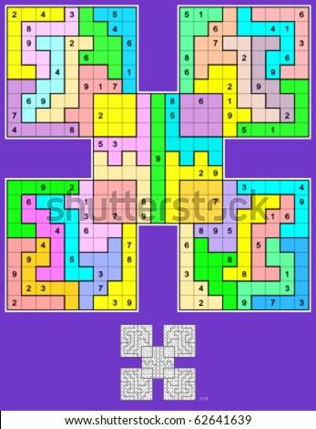 samurai jigsaw sudoku