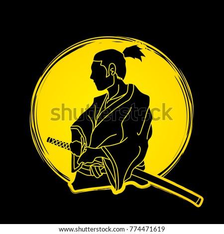 samurai ready to fight action