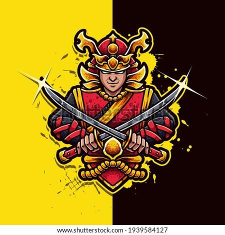 samurai ronin mascot logo