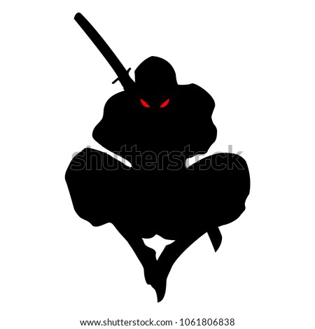 samurai silhouette warrior