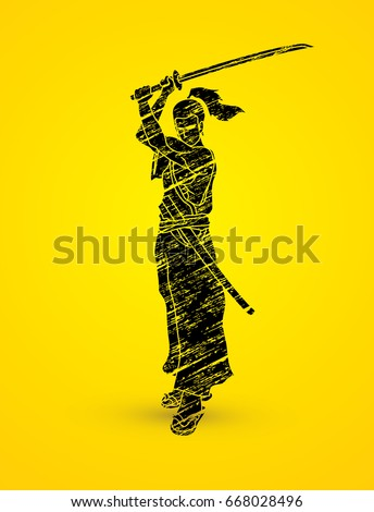 samurai standing with sword