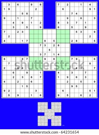 Go Back > Gallery For > Medium Samurai Sudoku