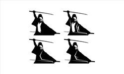 samurai warrior japan logo. samurai sword.