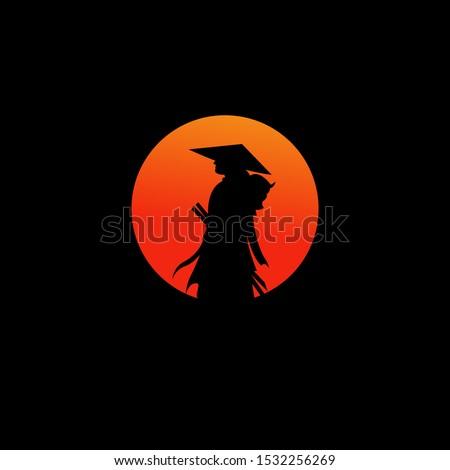 samurai warrior japan logo