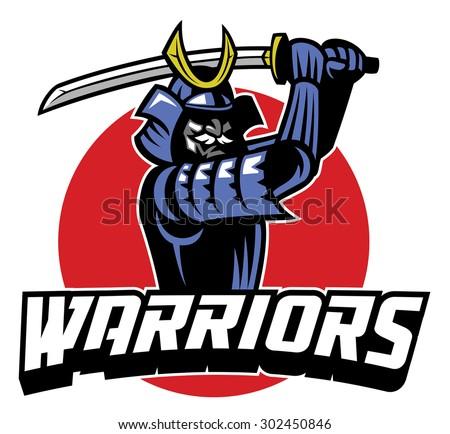 Stock Photo samurai warrior mascot