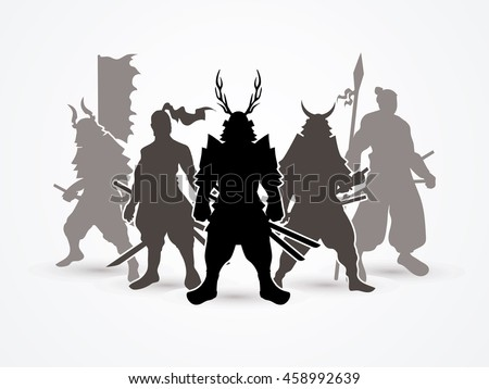 samurai warrior pose graphic