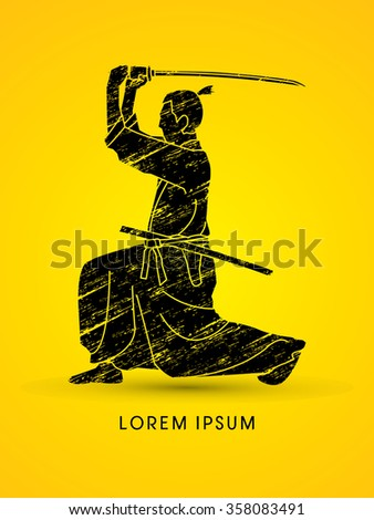 samurai with katana sword