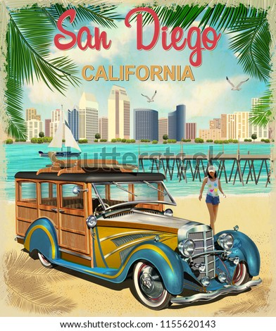 san diego california retro