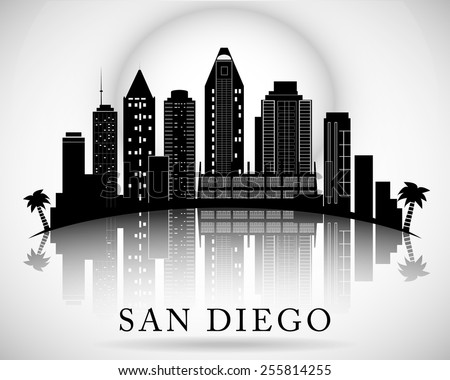 San Diego skyline. City silhouette