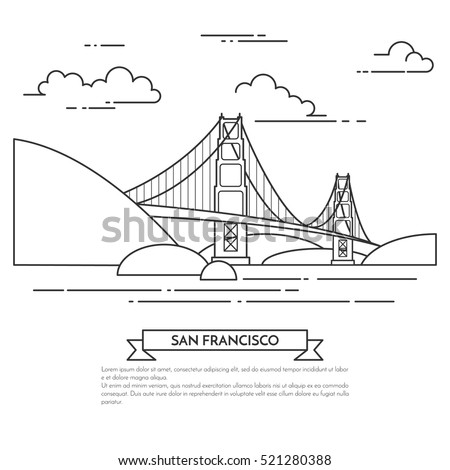 san francisco banner with city