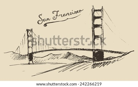 san francisco bridge  vintage...