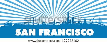 san francisco city blue sun