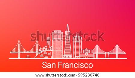 san francisco city white line