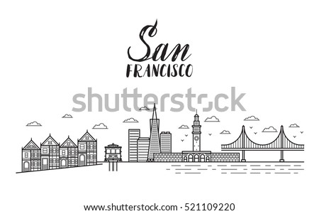 san francisco illustration with ...