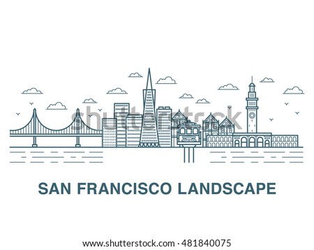 san francisco landscape vector