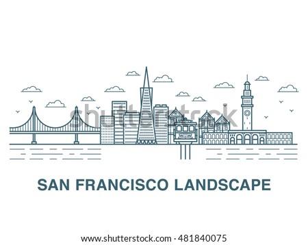 san francisco landscape vector