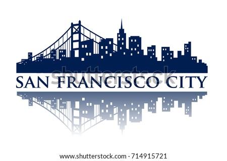 san francisco skyline silhouette city logo ez canvas